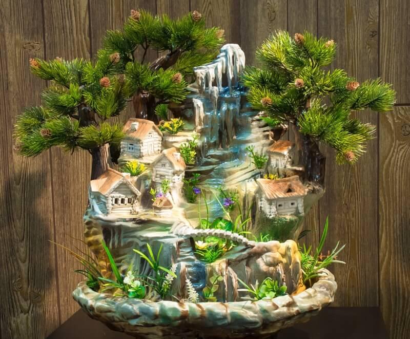 Декоративный водопад для волнистых попугаев